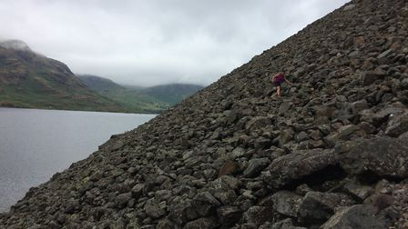 Scrambled across the scree at Wast Water