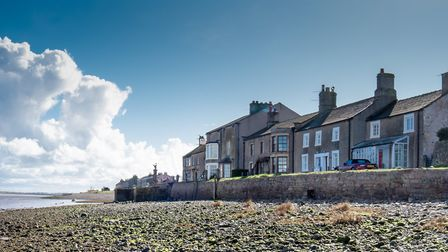 Beautiful old houses on the shore line at Sunderland Point by John Lenehan