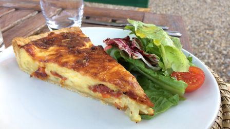 Cheese and onion tart