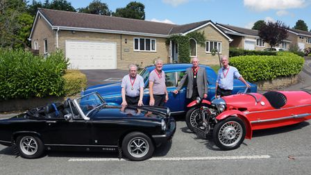 Involved in the Rorary Club of Burnley Classic Car Show are Neil Beecham, Gordon Salthouse, Adrian C