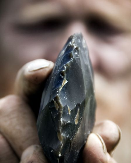 Detailed view of a piece of flint (photo: English Heritage)