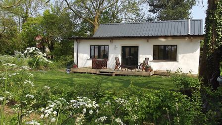 The straw bale house is one of the most eco friendly in the county