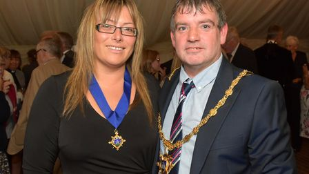 Donna ORourke and Simon ORourke, the Deputy Mayor of Clitheroe