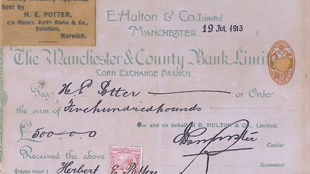 Where it all began; Herbert Potter's £500 prize cheque