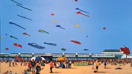 Ken Roberts from Fairhaven's winning painting 'Kite Festival St Annes'