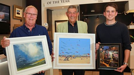 Lancs Life Art Comp Winners at Hepplestone Fine Arts, Heskin; Ian Morris of Darwen with his painting