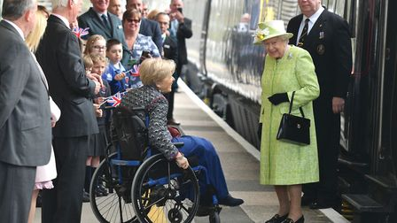 The Queen meeting the Lord Lieutenant of Somerset Annie Maw (c) Ben Birchall PA Wire/PA Images