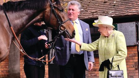 Nearly every time the Queen is in Somerset she likes to come face to face with horses