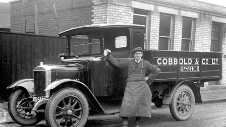 A Cobbold and Company Ltd lorry in Ipswich during the early 1930s. (Photograph by The Titshall Broth