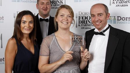 Best Product/Producer winner, Meggy Moo's Dairy Farm, James Milmer, Rachael and Alan Perrett, with A