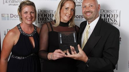 Best Seafood Restaurant winner, the Guildhall Tavern in Poole, Helene Hardy and Frederic Sewevyn, wi