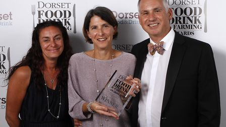 2019 Dorset Food, Drink and Farming Hero winner, Claire and Andy Burnet, of handmade chocolate maker