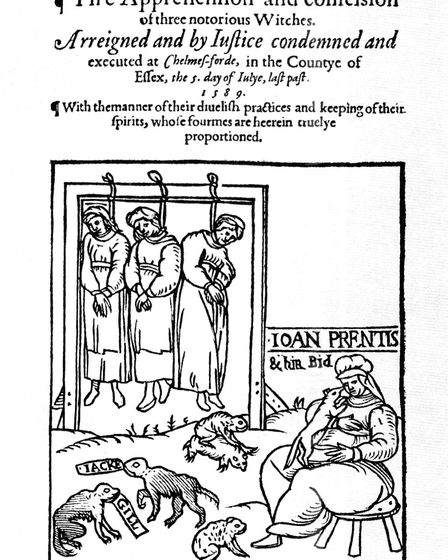 Three Joans -tThe broadsheet published at the execution of Joan Cunny, Joan Upney and Joan Prentice