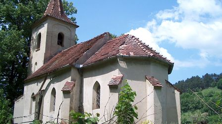 The German church in Mighindoala, one of the villages that make up ?eica Mare in Romania (Catalin Bo