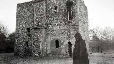 A ghost walks at Warren Lodge, Thetford. Photograph from 1983. PICTURE: Denise Bradley