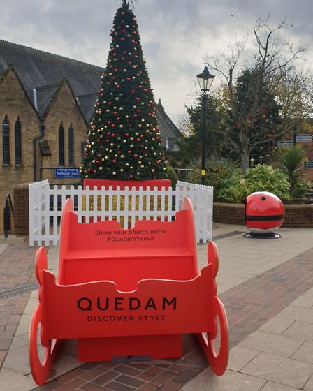 Ride on the Quedam Sleigh in Ivel Square