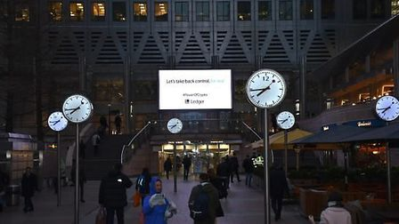 An advert for Ledger urges Brits to 'take back control, for real'. Photograph: Supplied.