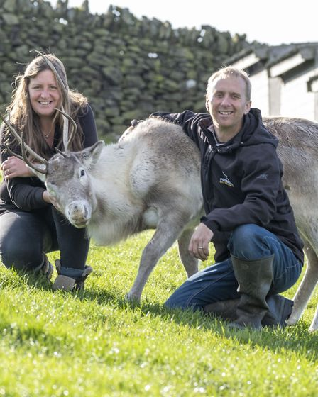 Dee and Daniel with a yearling