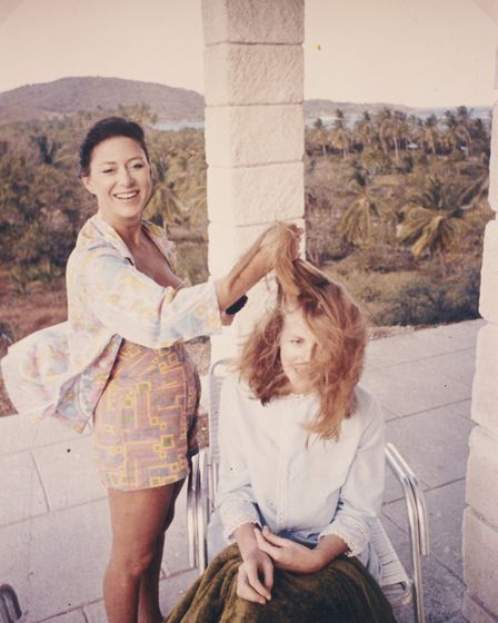 Princess Margaret plays personal stylist to Lady Anne on Mustique