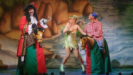 Tom Lister, Rachel Grundy and Steve Royle in Peter Pan at Blackpool Grand. Picture: Martin Bostock