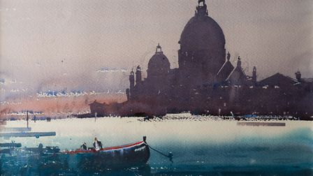 One of Steven Rigby's paintings of Venice