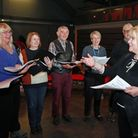 Leader, Caroline Darbyshire (right) and the Wellbeing Choir at The Atkinson Gallery, Southport
