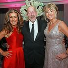 Hosts, Helen Equizi and Dianne Gillespie with M.C. Paul Crone