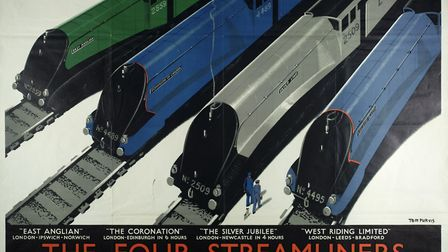 The Four Steamliners by Tom Purvis, published by London and North Eastern Railway, printed by Jarrol