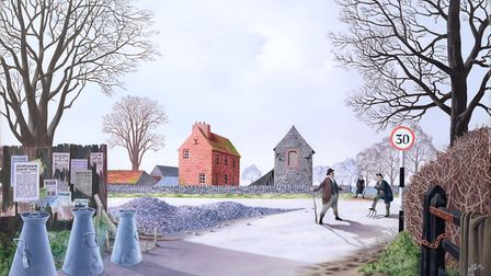 The Argument by Tristram Hillier, 1943, oil on panel, Harris Museum and Art Gallery, Preston, Lancas