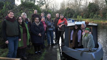 An Idle Women workshop on board their canal boat