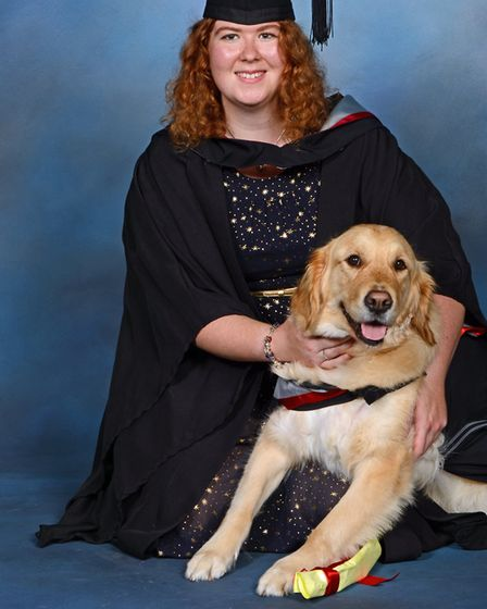 Ella and Katie on their graduation day in Lancaster