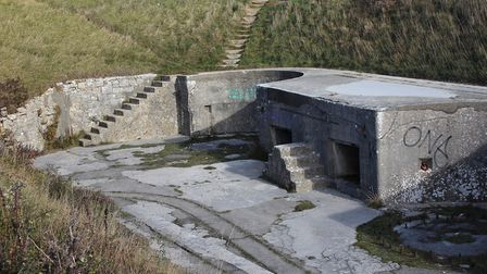 Gun-posts in HIgh Angle Battery {PLEASE CROP GRAFFITI FROM RIGHT HAND SIDE}