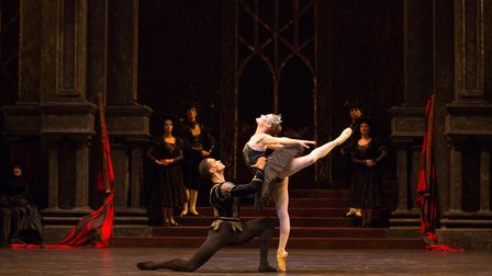 Delia Mathews as Odile and Brandon Lawrence as Prince Siegfried; photo: Andrew Ross