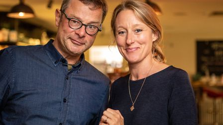 Hugh Fearnley Whittingstall and Ellen Fay, Director of SSA