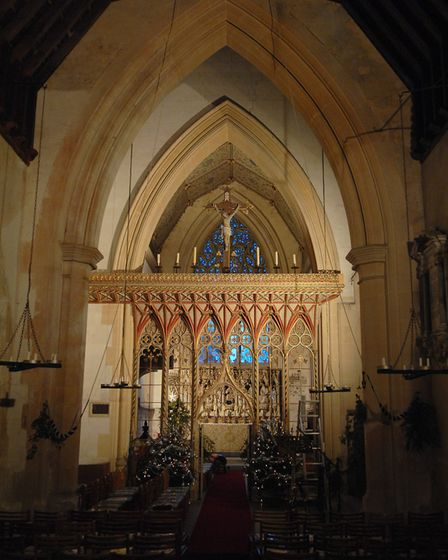 West Tofts church with its Pugin screen (photo: Adrian Judd)