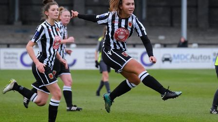 Grace Vella in action for Chorley