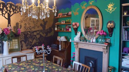 Artist and actress Patricia Derrick used her home as canvas for her work following the death of her