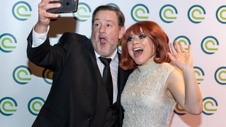 Clatterbridge Cancer Centre Charity Ball at Titanic Hotel Liverpool. Johnny Vegas and Vicky Jones as