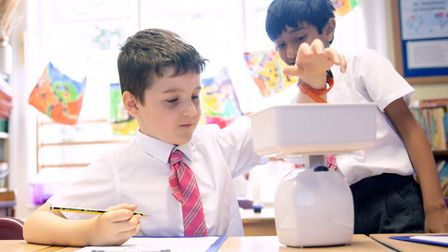 An enhanced curriculum throughout the school ensures children are ahead of what is expected for thei