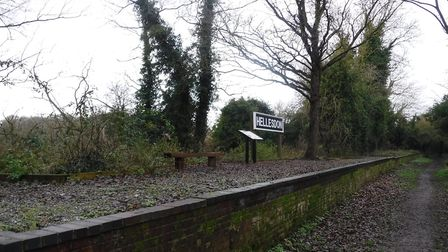 Work has been done to expose and repair more of the old Hellesdon Station platform (photo: Peter Jam
