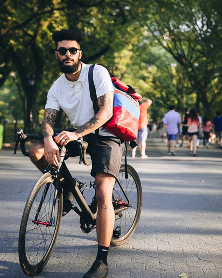 Model shoot in New York's Central Park (Photographer: Brodie Vissers)