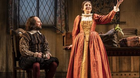 David Mitchell and Gemma Whelan in Upstart Crow at the Gielgud Theatre. Photograph: Johan Persson