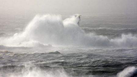 Longships storm lashed by Tim Stevens and Trinity House