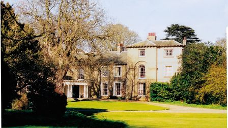 Letheringsett Hall, near Holt This shows the east front, remodelled in 1832-34 by the Hardys' son Wi