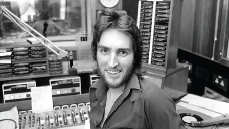 Johnnie Walker presenting his show on BBC Radio 1 in January 1975