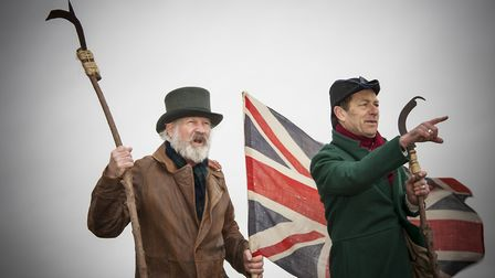 Beacon Keepers on Rainbarrow. Chris Pullen and Howard Payton. Wessex Scenes 2014 New Hardy Players.