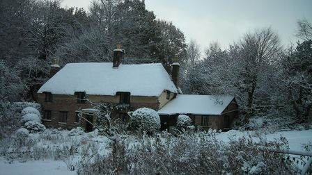 Hardy's Cottage in the snow