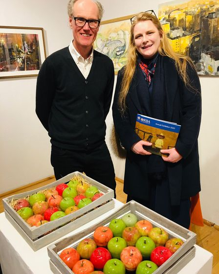 Laura Heap, head of art and design, Rossall School with BBC arts editor Will Gompertz