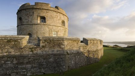 PENDENNIS CASTLE Exterior view of the Keep taken from the Half Moon Battery. Credit English Herita
