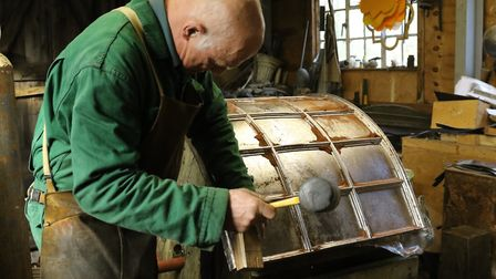 Master lead worker Brian Turner in his workshop. Photo: Serena Shores